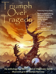 """Triumph Over Tragedy""--a good cause supported  and a serious theme explored (in my case) via space opera."