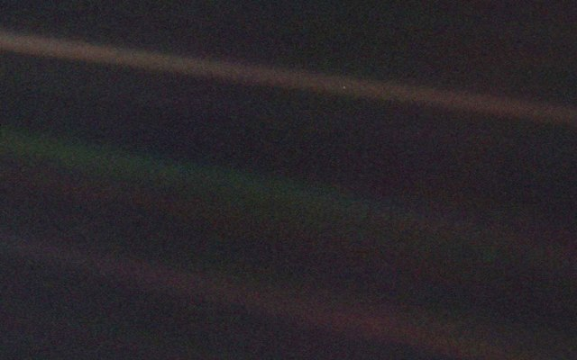 Earth, from four billion miles in space.