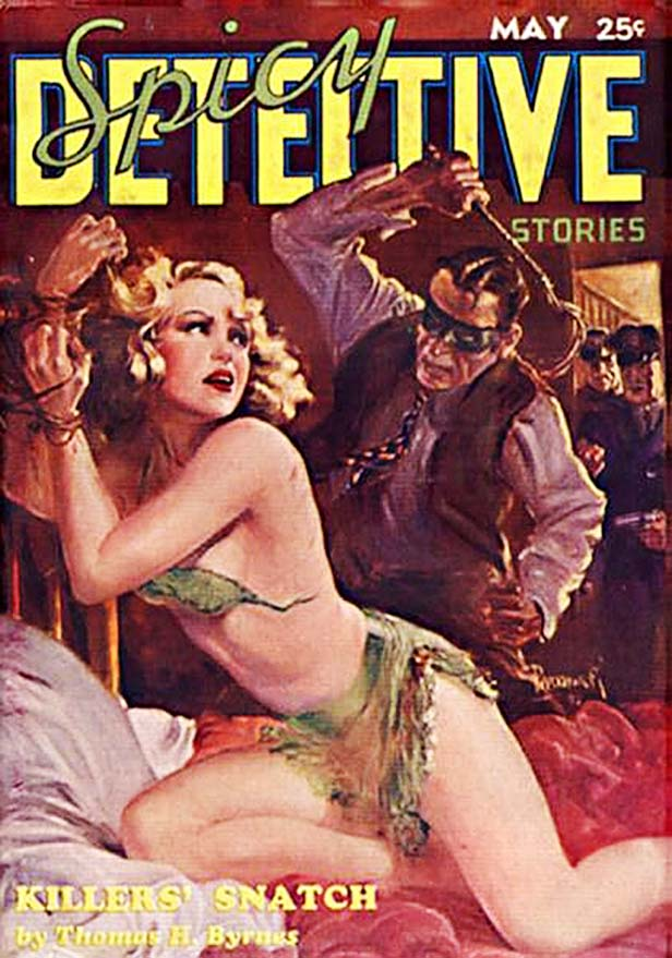 The number of magazine covers featuring women in bondage or being sexually assaulted was ridiculous.