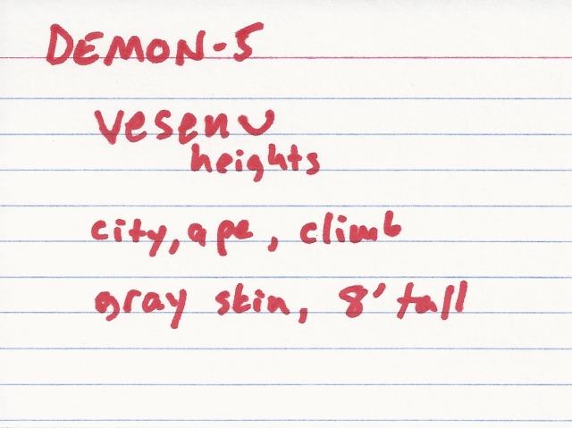 "Yep, this is my whole ""one demon per ten most popular phobias"" idea!"