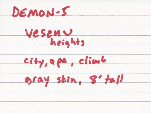 "Yep, this is my whole ""one demon per ten most popular phobias"" idea!"