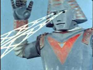 """Robot! Turn on your eye laser ray beam!"""