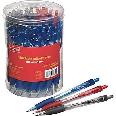 Fifty pens for twelve bucks! That's less than a quarter each!